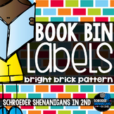 Book Bin Labels Bright Bricks!