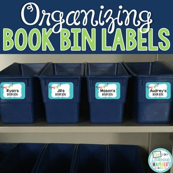 Book Bin Labels: Editable, Bright Patterns, Classroom Decor