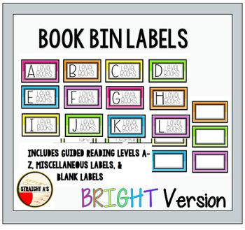 Book Bin Labels { Bright Version }