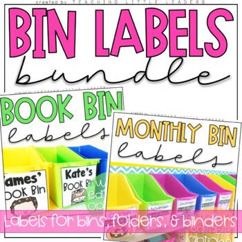 Book Bin Labels Bundle with Editable Options