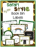 Book Bin Labels By Genre - Safari Style Theme {Jungle and Animal Print}