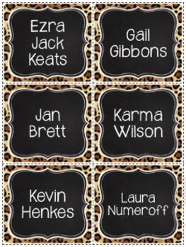 Book Bin Labels By Genre - Safari Style Theme {Jungle and Animal Print}