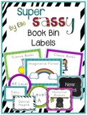 Book Bin Labels By Genre - Super Sassy Theme {Bold and Zebra Print}