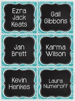 Book Bin Labels By Genre - Super Sassy Theme {Bold and Zebra Print}