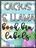 Book Bin Labels {Cactus and Llama Themed}