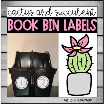 Book Bin Labels-(Cactus and Succulent)