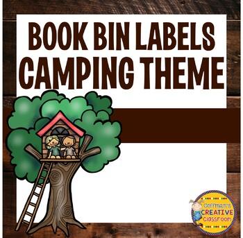 Book Bin Labels- Camping Theme Editable
