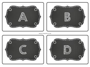 Book Bin Labels: Chalkboard
