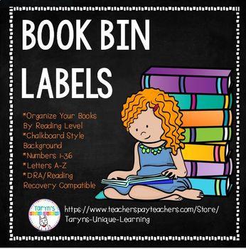 Book Bin Labels- Chalkboard Style