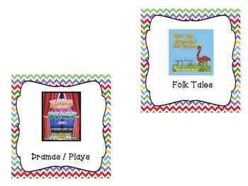 Chevron Classroom Library Book Bin / Basket Labels
