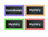 Classroom Library Labels - Chevron & Chalkboard design - Genres