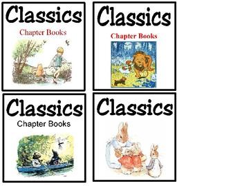 Book Bin Labels - Classics