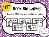 Book Bin Labels - Classroom Library Bin Labels - Library Book Labels Grades 2-5