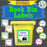 EDITABLE Labels - Book Bin Labels for the Classroom Library POLKA DOTS
