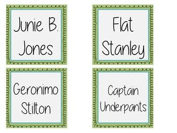 Book Bin Labels Edible