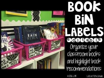 Book Bin Labels-Editable!