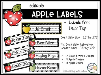 Book Bin Labels, Editable Name Tags, Target Adhesive Labels Apples