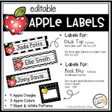 Book Bin Labels, Editable Name Tags,Target Adhesive Labels Apples
