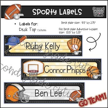 Book Bin Labels   Editable Name Tags   Target Adhesive Labels  Sporty