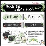 Book Bin Labels, Editable Name Tags, Target Adhesive Label