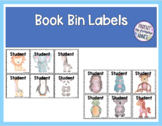 Book Bin Labels | Editable Name Tags Watercolor Animals