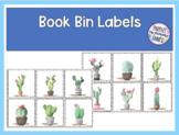 FREE Book Bin Labels | Editable Name Tags Watercolor Cactus