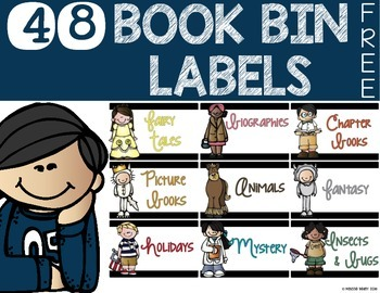 Book Bin Labels {FREE}