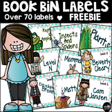 Library Book Bin Labels Freebie