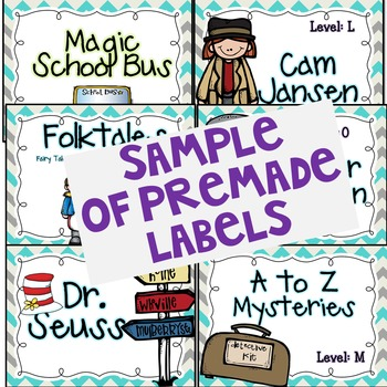 Library Book Bin Labels Freebie