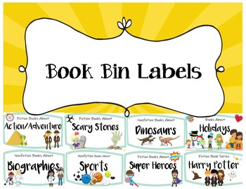 Book Bin Labels - Genre