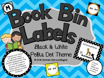 Classroom Library Book Bin Labels and More