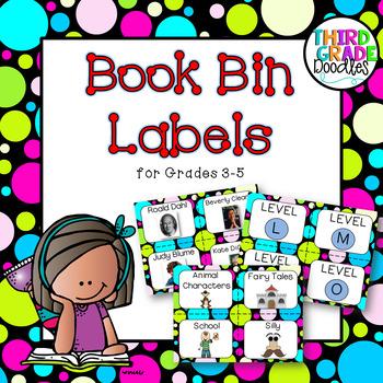 Classroom Library Labels -- Grades 3-5