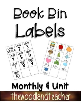Book Bin Labels *Monthly & Unit*