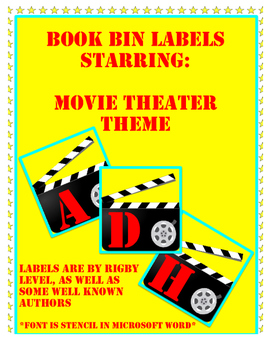 Book Bin Labels: Movies