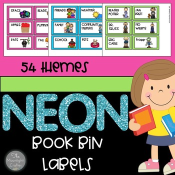 Book Bin Labels Neon Edition