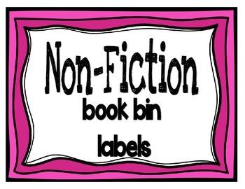 Book Bin Labels- Nonfiction