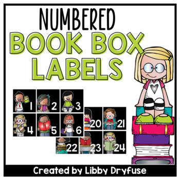 Book Box Labels - Numbered 1-30