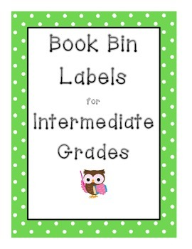 Owl Classroom Library Book Bin Labels