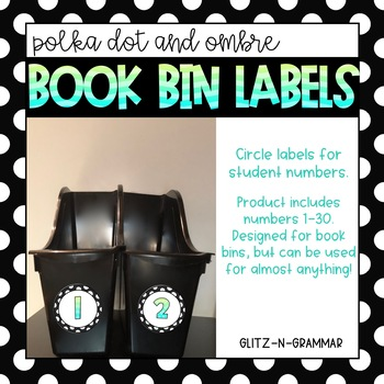 Book Bin Labels-(Polka Dot and Ombre)