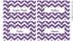 Book Bin Labels - Purple/Turquoise Chevron {editable}