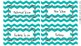 Book Bin Labels - Purple/Turquoise Chevron {editable}