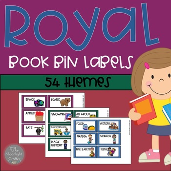 Book Bin Labels ROYAL COLORS