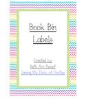 Book Bin Labels Rainbow Style