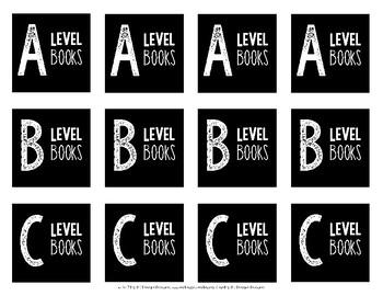 Book Bin Labels {Square}