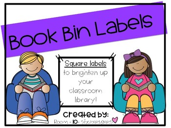 Book Bin Labels--Square