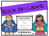 Book Bin Labels--Square