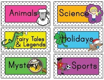 Book Bin Labels Starter Set w/ Blank Labels