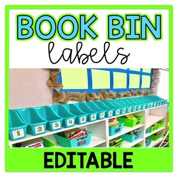 Book Bin Labels (Student Numbers)