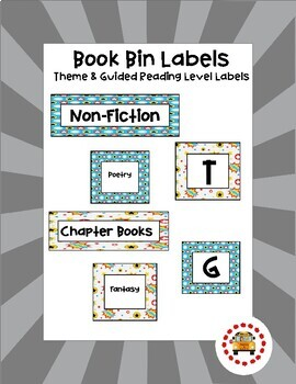 Book Bin Labels (Theme & Guided Reading) - Superhero Themed
