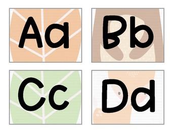 Book Bin Labels: Woodland Animals Theme